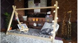 Kinder Bett Hausbett Tipi ELIA 90 x 200cm