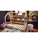 Kinder Bett Hausbett Lisa mit Sicherheitbarieren 60 x 120cm