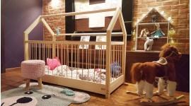 Kinder Bett Hausbett Dalia mit Sicherheitbarieren 90 x 160cm
