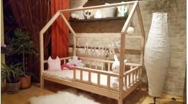 Kinder Bett Hausbett Buchenholz