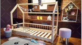 Kinder Bett Hausbett mit Sicherheitbarieren Lisa