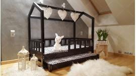 Kinder Bett Hausbett Bella mit Sicherheitbarieren mit zweites Bett
